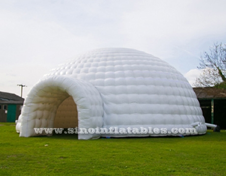 white giant inflatable igloo dome tent & 50 people 10 mts white giant inflatable igloo dome tent with ...