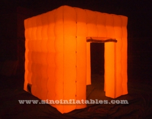 portable cube tube Led inflatable photo booth