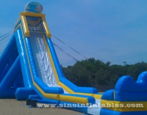 giant adults hippo inflatable slide with pool