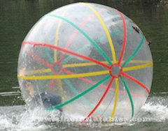 Colorful strips PVC inflatable water hamster ball