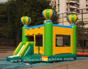 outdoor kids inflatable balloon combo castle