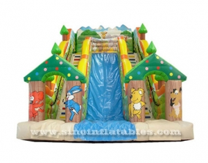 Forest park inflatable slide castle for children