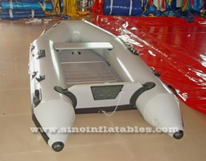 2 persons fishing inflatable sports boat