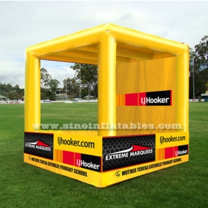 yellow inflatable cubic booth
