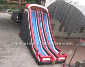 25 ft high adults double lane inflatable slide
