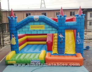 prince n princess big inflatable jumping castle with big slide FOR SALE