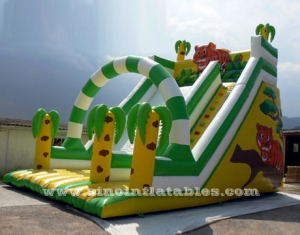 6 mts high kids inflatable jungle slide