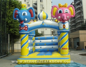 elephant N monkey toddler kids inflatable bouncer