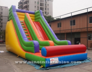 19' high rainbow kids inflatable slide
