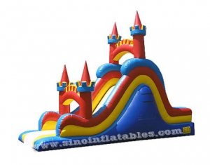 inflatable slide with castle tower