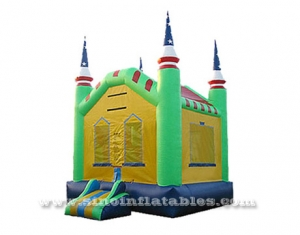 Outdoor kids patriotic inflatable bounce house with blower