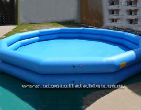 10 mts dia. double rail ploygon giant inflatable swimming pool used ...