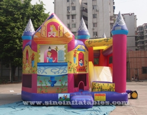 kids inflatable princess castle with slide