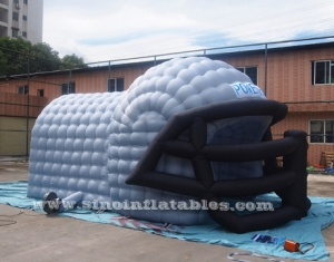 giant baseball inflatable helmet tunnel tent