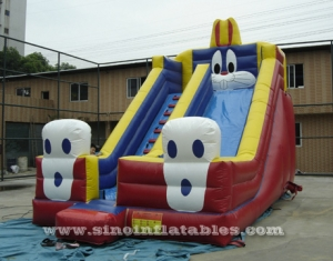 big rabbit kids inflatable slide