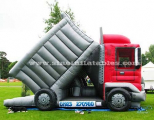 giant garbage truck inflatable slide