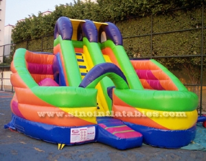 Millenmium inflatable twin slide with tunnel
