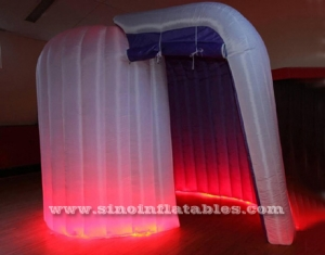 roll shape tube led light inflatable photo booth enclosure