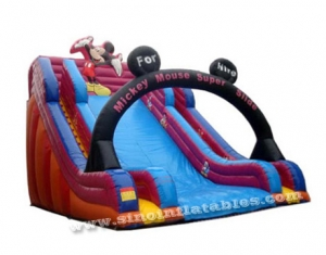 Mickey mouse kids super inflatable slide for sales with 3 years limited warranty-Sino Inflatables