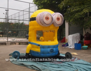 Minion cash grab inflatable money booth