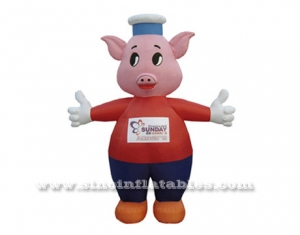 commercial used piggy inflatable moving cartoon