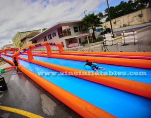 New design commercial use outdoor double lane inflatable water slide N slip