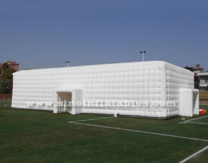 white giant inflatable cube tent for wedding parties