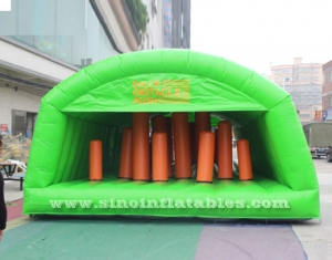 big adults inflatable obstacle tunnel tent