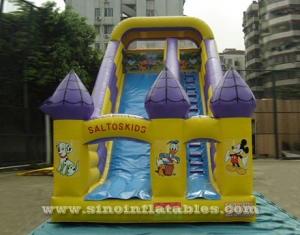 Illusion castle single lane inflatable slide