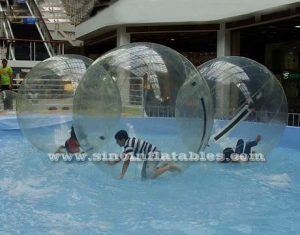 Clear PVC and TPU inflatable water ball walking on water