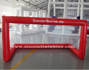 airtight inflatable water football goal with net