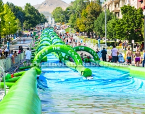 Custom made outdoor giant inflatable the city water slide N slide