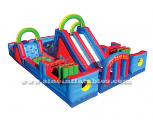 Giant commercial kids inflatable obstacle