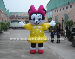 minnie mouse advertising inflatable moving carton