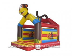 children jungle monkey inflatable bouncy castle