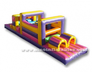 Colorful kids inflatable obstacle course