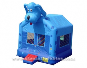 Commercial kids lovely dog inflatable bounce house