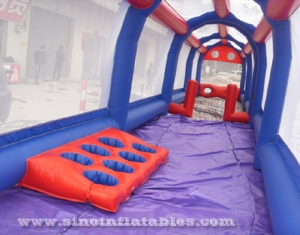 inflatable football assault course