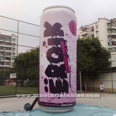6 mts high giant inflatable energy drink can