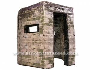 inflatable bunker wall for outdoor shooting game
