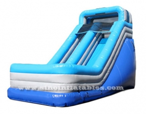 18ft light blue single land inflatable slide