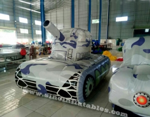Giant inflatable military tank paintball bunker