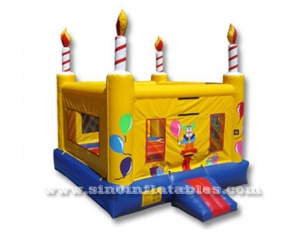 kids birthday cake inflatable bouncy castle