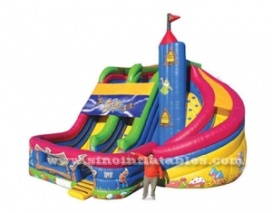 inflatable slide with spiral slide