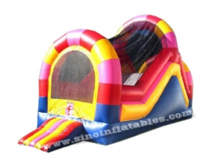 backyard inflatable tunnel slide