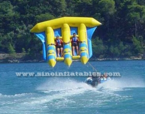 4 persons adults yellow water inflatable flying fish