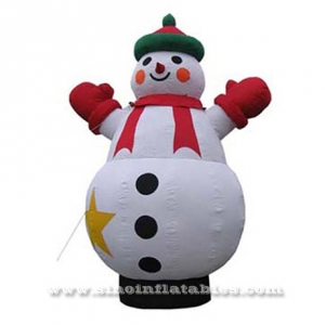 huge outdoor advertising inflatable snowman