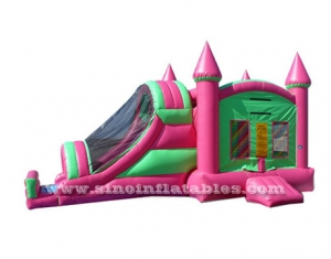 Outdoor inflatable combo with slide N cover