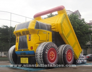 giant dump car inflatable slide