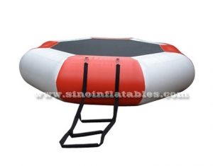 kids N adults inflatable water trampoline with ladder